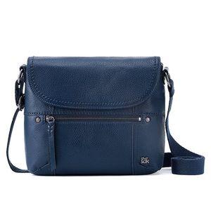 The Sak Navy Blue Leather Katniss Crossbody Bag
